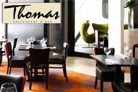 Thomas Restaurant - Three Course Lunch With Cocktails For Two for £28 - Save 58%