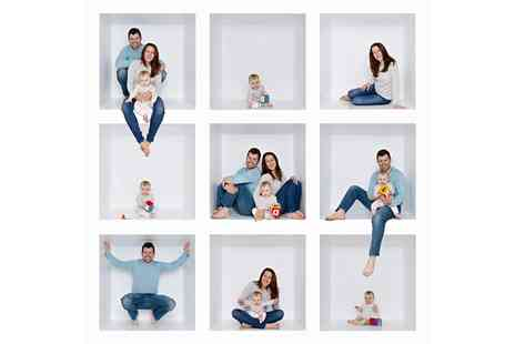 IceTea Photography - Christmas Family Photoshoot with Two Prints and a Digital Christmas Card - Save 60%