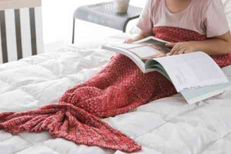 Groupon Goods Global GmbH - Kids Mermaid Tail Blanket in Choice of Size - Save 70%