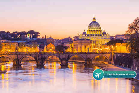 ClearSky Holidays - Two or three night 4 Star Rome break including flights & breakfast - Save 53%