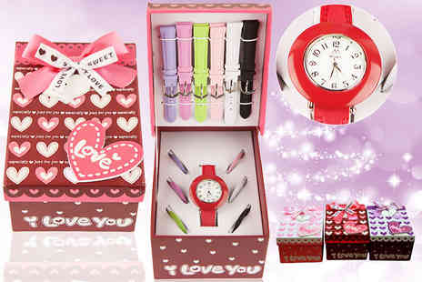 MYO Fashion - Girls watch with changeable straps in a variety of colours - Save 63%