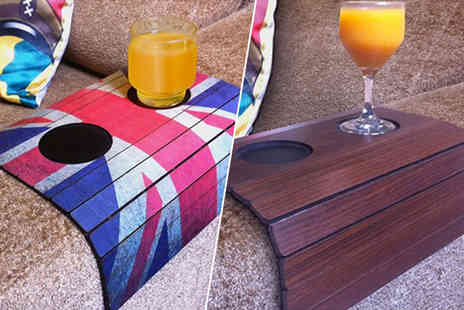 Easy Gifts - Flexible arm rest tray with cup holder choose from seven designs - Save 76%