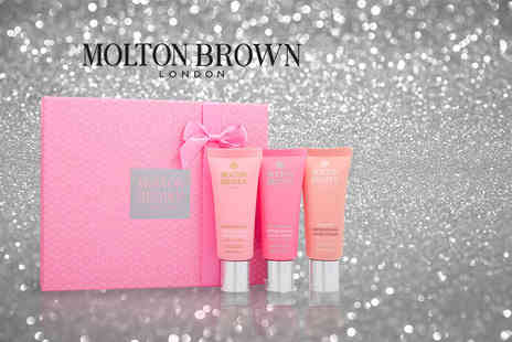 Deals Direct - Molton Brown hand cream trio choose from the white gift box or pink gift box - Save 44%