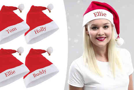 Treats On Trends - Personalised Santa Hat - Save 73%