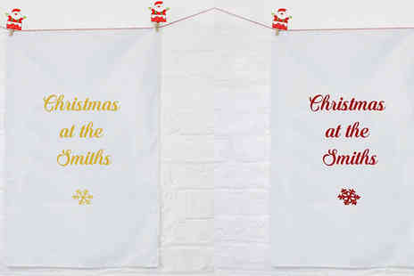 Treats On Trends - Personalised Family Christmas Tea Towel - Save 70%