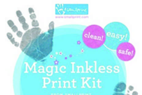 Smallprint - Magic Inkless Print Kit  treasure your little ones feet and hand prints forever - Save 50%