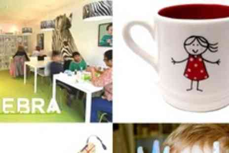 Zebra Ceramics - Studio time plus Plate or Mug for Jubilee fun - Save 47%