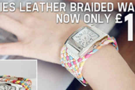 Smartass Marketing - Accessories make an outfit so save on this stylish braided leather watch - Save 52%