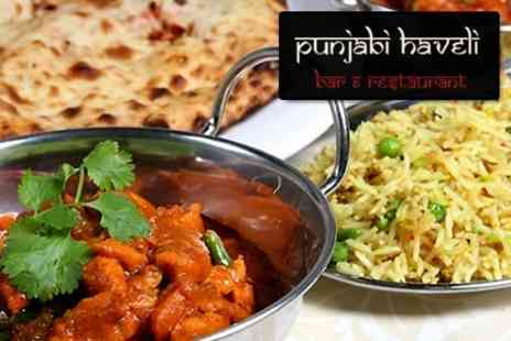 Punjabi Haveli - Two Courses of Authentic Punjabi Cuisine For Two Plus Side Dishes for £18 - Save 62%