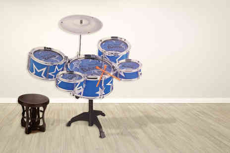 Funky Buys - Childrens drum kit choose from vibrant red and blue - Save 0%