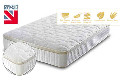FurnitureStopUK - 3000 pocket sprung and memory foam mattress choose from five sizes - Save 85%