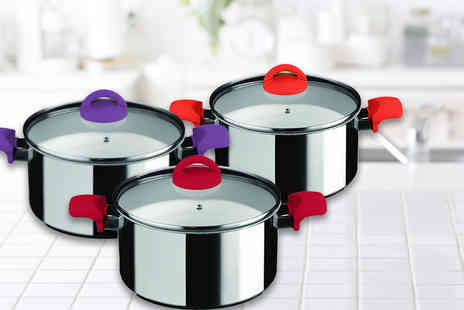 Dream Price Direct - 24cm casserole dish choose from violet, carrot and red - Save 44%
