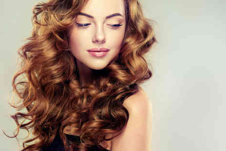Hair Beautique - Half head of highlights, cut and blowdry with a mince pie and glass of bubbly - Save 78%
