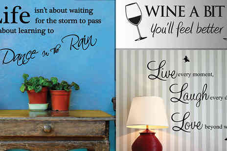 Deco Matters - Wall Quote Stickers in 5 Designs - Save 93%
