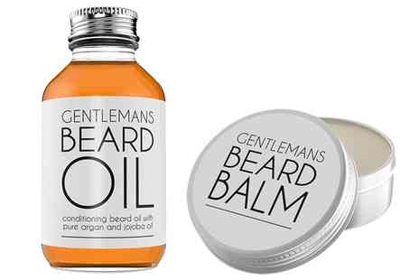 Groupon Goods Global GmbH - Gentlemans Beard Conditioning Oil, Balm or Set - Save 0%