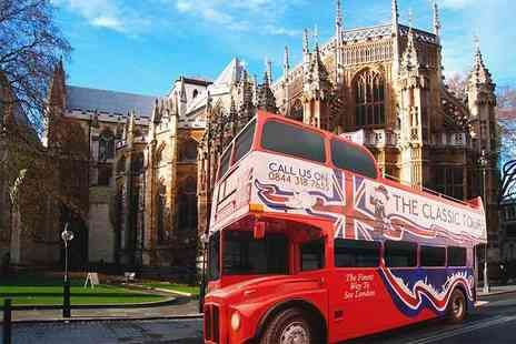 The Classic Tour - Childs ticket or adult ticket for the open top classic bus tour of London - Save 42%