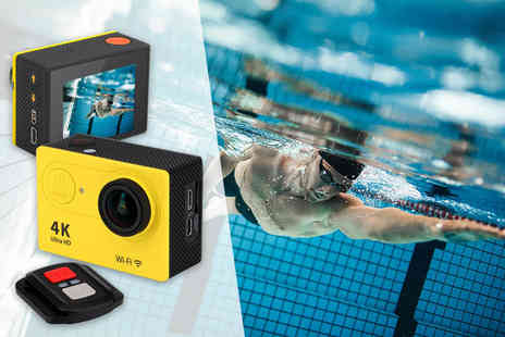 Toy Meets World - 4K ultra HD action waterproof camera with remote control - Save 72%