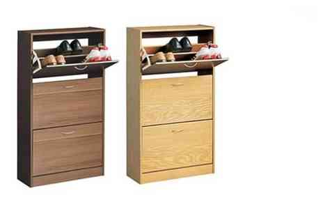 The Import House - Wwooden two drawer or three drawer shoe cabinet choose from four colours - Save 73%