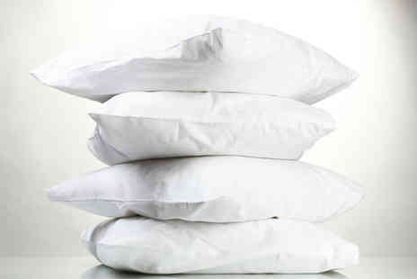 Diana Cowpe - Four natural duck feather pillows - Save 85%