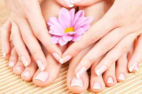 Polish Me Pretty - Gelish or Shellac Manicure, Pedicure or Both - Save 0%