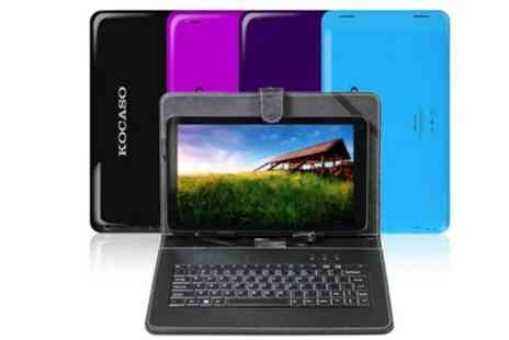 Groupon Goods Global GmbH - 10 Inch Quad Core Android 4.4 Kocaso MX1037 Tablet With Free Delivery - Save 0%