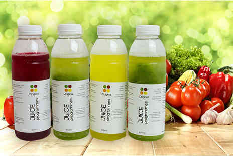 Juice Programmes - Three day original juice cleanse - Save 54%