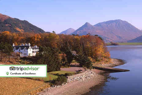 Loch Leven Hotel - Overnight stay for two with breakfast, late check out and bubbly - Save 30%