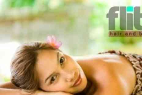 Flitz Hair and Beauty - Spa Day For Two With Massage, Dermalogica Facial - Save 70%
