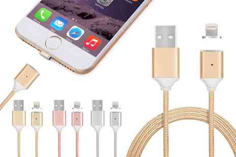 Groupon Goods Global GmbH - Magnetic Charging Cable with Lightning or Micro USB Connector for Apple and Android Devices - Save 0%