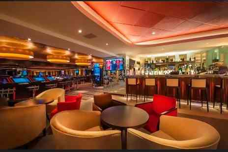 Genting Casino - Two Course Dinner and £5 Worth of Casino Chips for Two or Four - Save 57%