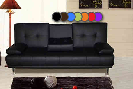 IT Ideas - Manhattan cinema sofa bed with cup holders choose from seven colours - Save 0%