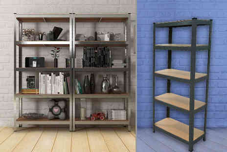 ViVo Technologies - Five rack steel shelving unit - Save 90%