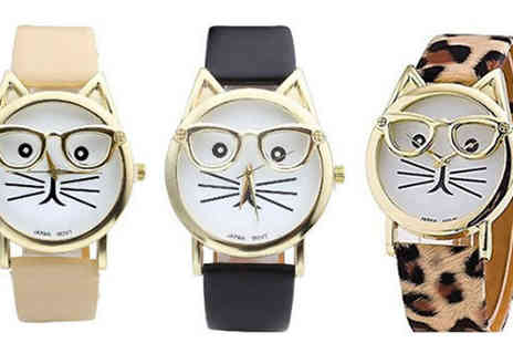 Elle and Be - Crazy Cat Watch - Save 76%