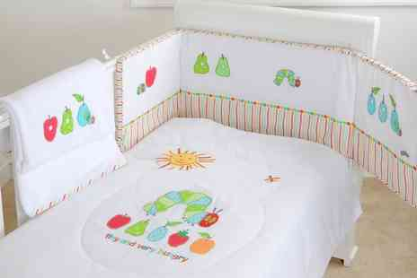 Groupon Goods Global GmbH - The Very Hungry Caterpillar Three Piece Bedding Set With Free Delivery - Save 0%