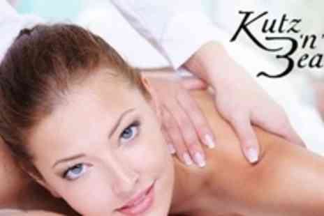 Kutz 'n' Beauty 2 - Back, Neck, and Shoulder Massage With Express Manicure For Two - Save 69%