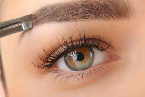 Expressions - Semi Permanent Eyelash Extension Plus Optional Brow Wax and Tint and Facial Wax - Save 0%