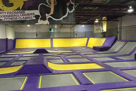 Gravity Force - One or Two Hour Trampoline Jumping for One, Two or Four - Save 25%
