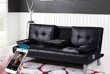 IT Ideas - Manhattan Bluetooth cinema sofa bed Choose from four colours - Save 75%