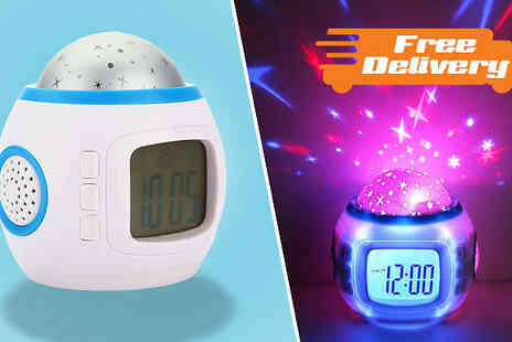 CheekyBox - LED Star Projector Clock With Free Delivery - Save 57%