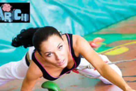 The Arch - 1 hour indoor climbing lesson and a 1 day climbing pass - Save 55%