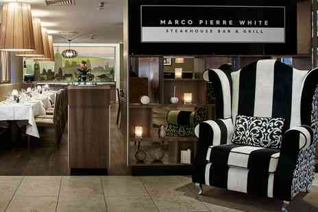 Marco Pierre White - 10oz Steak Meal with Wine for Two or Four - Save 46%