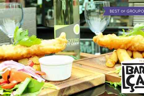 Barca - Fish and Chips with a Bottle of Wine for Two or Four - Save 52%