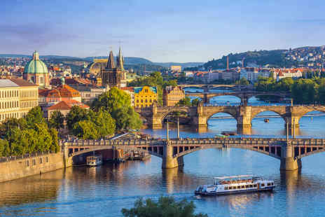Great Pacific Travels - Two or three night Prague getaway including breakfast, Prosecco, flights and a river cruise - Save 43%