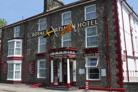 Royal Sportsman Hotel - Two night Snowdonia stay for two with breakfast, a bottle of wine and mince pie on arrival - Save 57%