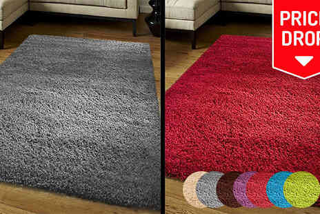 Funky Buys - Shaggy Rug Four Sizes and Nine Colours - Save 73%