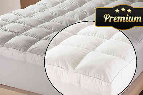 Gorgeous Selection - Goose Feather and Down Mattress Topper Four Sizes - Save 60%