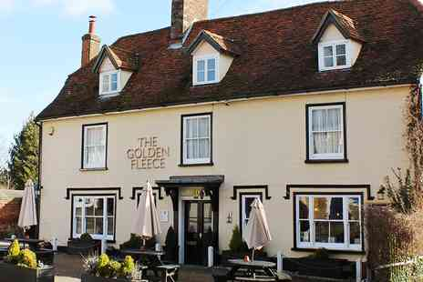 The Golden Fleece - Imaginative Meal for 2 at Top Rated Herts Pub - Save 38%