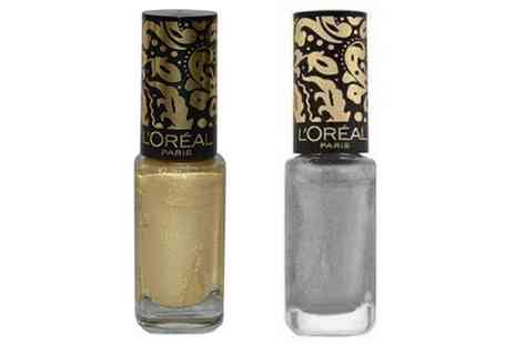 Groupon Goods Global GmbH - Two Pack LOreal Paris Crackle Top Coat Nail Varnish Glossy Finish - Save 0%