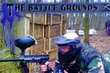 Battle Grounds Paintball - Paintballing For Four (£24) With 100 Paintballs - Save 76%