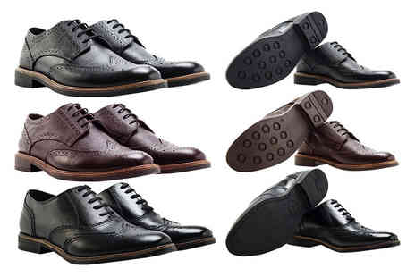 Shoeprimo - Pair of mens brogues choose from three styles - Save 79%